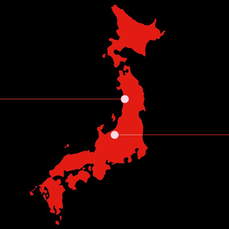 carte du japon akafuji